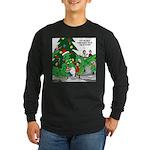 Santa Squid Long Sleeve Dark T-Shirt