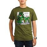 Santa Squid Organic Men's T-Shirt (dark)