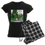 Santa Squid Women's Dark Pajamas