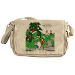 Santa Squid Messenger Bag