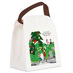 Santa Squid Canvas Lunch Bag