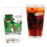Santa Squid Drinking Glass