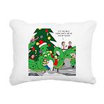 Santa Squid Rectangular Canvas Pillow