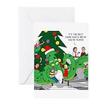 Santa Squid Greeting Cards (Pk of 10)