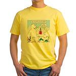 Polar Bear Snack Yellow T-Shirt