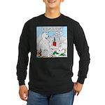 Polar Bear Snack Long Sleeve Dark T-Shirt