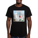 Polar Bear Snack Men's Fitted T-Shirt (dark)