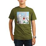 Polar Bear Snack Organic Men's T-Shirt (dark)