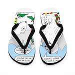Polar Bear Snack Flip Flops
