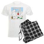 Polar Bear Snack Men's Light Pajamas