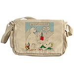Polar Bear Snack Messenger Bag