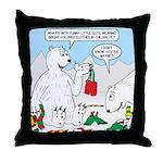 Polar Bear Snack Throw Pillow