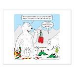 Polar Bear Snack Small Poster