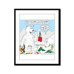 Polar Bear Snack Framed Panel Print