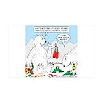 Polar Bear Snack 35x21 Wall Decal