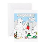 Polar Bear Snack Greeting Card