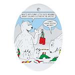 Polar Bear Snack Ornament (Oval)