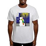 Snowman Scarf Light T-Shirt