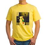 Snowman Scarf Yellow T-Shirt