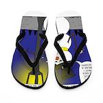 Snowman Scarf Flip Flops