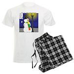 Snowman Scarf Men's Light Pajamas