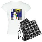Snowman Scarf Women's Light Pajamas