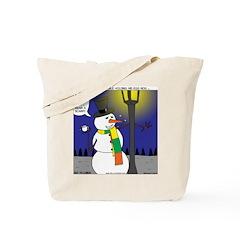Snowman Scarf Tote Bag