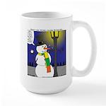Snowman Scarf Large Mug