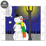 Snowman Scarf Puzzle
