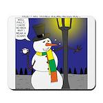 Snowman Scarf Mousepad