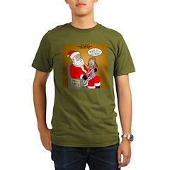 Storefront Santa Wish Organic Men's T-Shirt (dark)