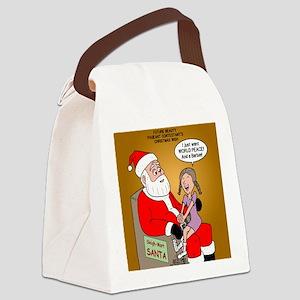 Storefront Santa Wish Canvas Lunch Bag