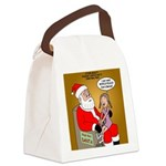 Storefront Santa Wish Canvas Lunch Bag