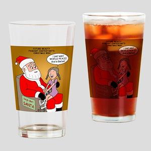 Storefront Santa Wish Drinking Glass