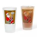 Storefront Santa Wish Drinking Glass