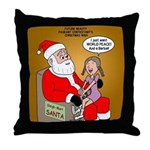 Storefront Santa Wish Throw Pillow