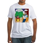 Waiting Up for Santa Fitted T-Shirt