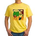 Waiting Up for Santa Yellow T-Shirt