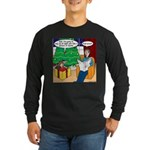 Waiting Up for Santa Long Sleeve Dark T-Shirt