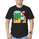 Waiting Up for Santa Men's Fitted T-Shirt (dark)