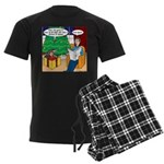 Waiting Up for Santa Men's Dark Pajamas