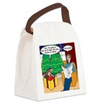 Waiting Up for Santa Canvas Lunch Bag