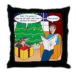 Waiting Up for Santa Throw Pillow