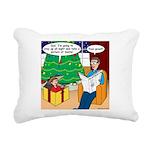 Waiting Up for Santa Rectangular Canvas Pillow