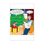 Waiting Up for Santa Mini Poster Print