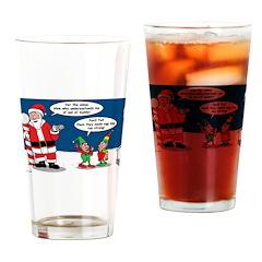 Santa's Party Drinking Glass