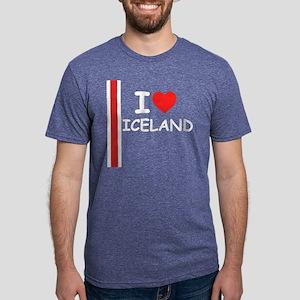 Iceland Stripe DS Mens Tri-blend T-Shirt