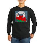 Santa's Bad List Long Sleeve Dark T-Shirt