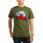 Santa's Bad List Organic Men's T-Shirt (dark)