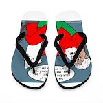 Santa's Bad List Flip Flops